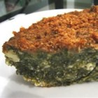 Spinach Pie - This is an easy recipe for spanikopita without the filo dough.