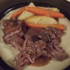 Simon and Garfunkel Pot Roast - A nice and easy herb-flavored pot roast with gravy simmers slowly in your slow cooker.