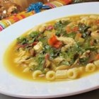 Beans, Greens and Garlic Soup - Inspired by the traditional Italian pairing of pasta and beans, this hearty soup with cannelini beans, ditalini pasta, baby spinach, and an infusion of garlic is especially wholesome.