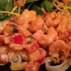 Yogurt Shrimp Fettuccine