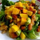 Chicken, Avocado and Mango Salad - This is a colorful and very tasty mix of chicken, mangos, and avocados in a spicy lime dressing.