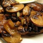 Superb Sauteed Mushrooms - Sauteed mushrooms with a hint of wine and teriyaki sauce are the perfect topper for steak and baked potatoes.