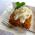 Pumpkin Cobbler - This mix-and-bake dessert has all the flavors you love in pumpkin pie, but it's even easier than pie.