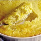 Easy Corn Pudding - A box of corn muffin mix is the base for this casserole which uses cream-style corn, whole corn kernels and sour cream.