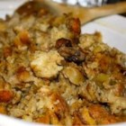 Mushroom Stuffing - Fresh mushrooms are sauteed in butter with onions and celery before adding to a mixture of bread cubes, chopped apple, parsley, beaten egg and broth.  This recipe will stuff a 12 pound turkey.