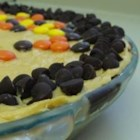 Chocolate Kiss Peanut Butter Pie - Chocolate, whipping cream, peanut butter, and a few other tasty ingredients cook up into this seductive pie. It 's easily made even more decadent with whipped cream and chopped peanuts spooned onto each slice.
