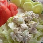 Chicken Salad with Apples, Grapes, and Walnuts - Leftover grilled chicken breasts are ideal for making this chicken salad in a yogurt based dressing with apples, celery, red onion, and grapes.