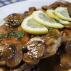 Chicken Scallopini - Using a chicken demi-glace, a very concentrated and flavorful sauce base, will add a gourmet touch to this easy but elegant dish of boneless chicken breasts in a mushroom-lemon sauce with capers.