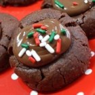 Zebra Cookies - A very festive thumbprint style cookie. A treat for the eyes as well as the tastebuds.