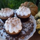 Sweet Potato Cupcakes with Toasted Marshmallow Frosting - These spiced fall cupcakes are a riff on the classic Thanksgiving casserole.