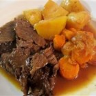 Jen's Pressure Cooker Pot Roast - A pressure cooker is a must for making a tough roast tender. In our large family when I was growing up, this was everyone's most-requested birthday dinner. When my mother was reducing her household size for a move, she gave me her pressure cooker, and I am now teaching my children to make this favorite as well.