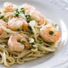Feta Shrimp Pasta - Delicately flavored, this pasta dish is so quick and delicious it will become a weekly favorite.