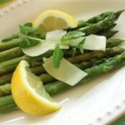 Asparagus Parmesan - Quick and easy asparagus that is sauteed, and topped off with Parmesan cheese.