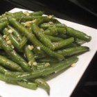 Buttery Garlic Green Beans - Quick and easy green beans pan-fried in garlic butter are a simple side dish for the Thanksgiving or weeknight table.