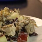 Sweet Leftover Turkey Salad - After Thanksgiving, make a delicious turkey salad with the sweetness of apples and raisins, the tang of lemon juice, and the nutty crunch of sunflower seed kernels.