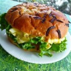 Bacon Dijon Egg Salad Sandwich - Make your egg salad sandwich more interesting with the addition of bacon, onion, bacon, and dill.