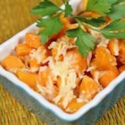 Savory Roasted Butternut Squash - Roasted butternut squash makes a delicious and easy side dish for your favorite comfort foods. Romano cheese adds a savory burst of flavor to this caramelized vegetable.