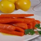 Lemon-Glazed Carrots  - Carrots are pan-fried in a sweet lemony glaze creating a quick and easy side dish.