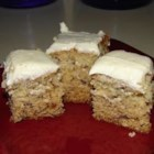 Banana-Nog Cake - Banana and eggnog give regular cake batter added richness and moisture for a festive dessert perfect for the holidays.