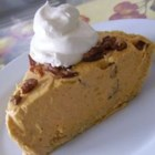 Pumpkin Pecan No-Bake Cheesecake Pie - Pumpkin pecan pie and cheesecake combine into a no-bake pie for a new dessert for the holiday table.