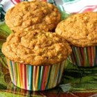 October Oatmeal Pumpkin Muffins - Spicy oatmeal-pumpkin muffins sweetened with maple syrup are quick to whip up and make a great autumn breakfast.