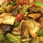 Lebanese Fattoosh - This tangy, lemony toasted bread salad is very refreshing on a hot summer's day!