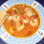Hot-and-Sour Prawn Soup with Lemon Grass - A very simple soup that gives off a complex aroma and flavor. One taste of these prawns in the spicy and sour broth will send your taste buds to the tropics.