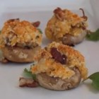 Cheddar Pecan Stuffed Mushrooms - Mushroom caps are stuffed with a savory combination of pecans, Cheddar cheese, and green onions in this easy appetizer.