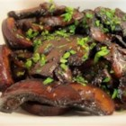 Tiffany's Sauteed Mushrooms - Sauteed mushrooms are made quickly with canned mushrooms, balsamic vinegar, and Worcestershire sauce for a sweet and savory meal accompaniment.