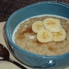 Porridge - This is a winter favorite of ours, that builds on a traditional British breakfast dish. We add sultanas, bananas and cinnamon and it's awesome.