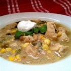 Spicy White Chili with Chicken - Classic white chili gets a kicky flavor boost with the addition of jalapeno and green chiles.