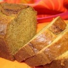 Pumpkin Pie Bread - This very moist pumpkin bread, simply seasoned with pumpkin pie spice, really needs no other adornment.