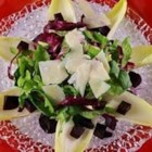 Beet Salad - This slightly sweet salad of endive and mixed greens, topped with roasted beets and feta cheese, adds a classy accompaniment to any party!
