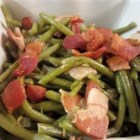 Nanny Beans - This is simple way to prepare green beans, cooking them slowly in a pot of water with bacon, onion, and sugar. It's a great alternative to green bean casserole.