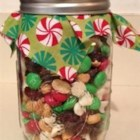 Christmas Snack Mix - This is so pretty in a decorative glass container to give to friends, sitters, paper boys, music teachers or co-workers during the holidays.