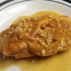 Chicken Vermouth - Chicken breasts are braised in butter and vermouth, then covered with a rich cream sauce.