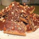 English Toffee - An easy recipe for almond toffee, topped with chocolate.