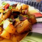 Mango-Bacon-Butternut Squash Hash - A Paleo-friendly hash is made from a mixture of bacon, butternut squash, and mango.