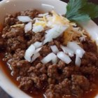 Mr. Mason's Chili - This vintage midwestern recipe for chili makes a thick, flavorful version that's meant to be served over a bowl of cooked pinto beans. For best results, use the chili powder called for.
