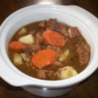 Diego's Special Beef Stew - This rich beef stew is flavored with red wine and herbs, and loaded with onion, potato, and carrots for a delicious cool-weather meal.