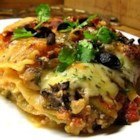 Veggie Lasagna Florentine - A host of vegetables are in every bite of this substantial lasagna made with mushrooms, zucchini, tomatoes, and spinach.