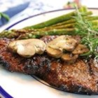 Grilled Delmonico Steaks - Marinated steaks so tender you can cut with a fork!  Friends and family always come running when they know I'm grilling.