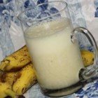 Milk Banana Smoothie - Milk, bananas, and a pinch of sweetener are all you need for this creamy, smooth drink.