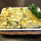 Apple Pecan Corn Bread Dressing - Savory, yet sweet this cornbread dressing will satisfy anyone's appetite. 2 teaspoons dried parsley can be substituted for fresh. Originally submitted to ThanksgivingRecipe.com.