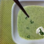 Erin's Cheesy Broccoli Soup - Cream cheese is the key to this delicious and creamy broccoli soup with Cheddar cheese and onion.