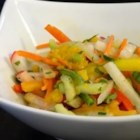 Refreshing Sweet and Spicy Jicama Salad (Vegan)