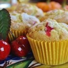 Moist Cranberry Pecan Muffins - Sour cream, thick Greek yogurt, and cinnamon-flavored applesauce make these cranberry-pecan muffins extra-moist and flavorful.