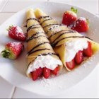 Crepes - These traditional crepes are made with eggs, milk, flour, salt and oil.