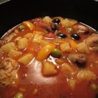 Chicken Costa Brava - In this worthy tomato and chicken offering, pineapple provides a sweet contrast to piquant olives.