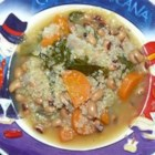 New Year's Soup - Black-eyed peas and collard greens are traditional foods to eat on New Year's Day for luck and money, and both are found in this hearty soup.